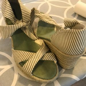 Tommy Hilfiger fabric striped espadrille wedge